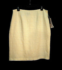 WOW~WINTER OFF-WHITE SHIMMER TEXTURED TWEED PENCIL STRAIGHT SKIRT DRESS~14~L~NW