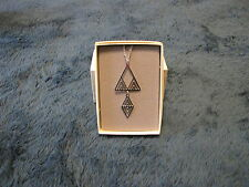 """Pendant #52565-2 """" Desert Triangle""""  Frank Lloyd Wright Inspired Design NWT"""