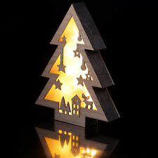 Christmas Tree Wooden LED Light Lamp Indoor Office Home Wall Hanging Decoration