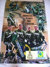Rally raid Dakar 2005 Affiche officielle Euromaster Team MOTO Paris Dakar