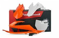 KTM Polisport Plástico Kit Para KTM SX 65 2016 OEM Naranja Blanco Motocross Mx