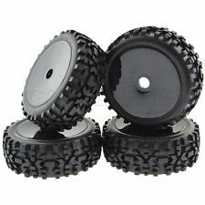 1:8 RC Buggy Hex 17mm Wheels Concentric Soft Rubber Tires Black Pack of 4