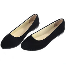 Black US Size 8 Boat Shoes Casual Flat Ballet Slip On Flats Loafers Single Shoes