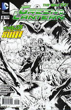 Green Lantern #8 1:200 Black & White Sketch Variant DC New 52 2011