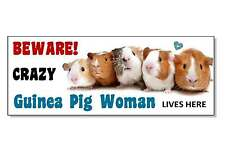 FUNNY BEWARE GUINEA PIG Wood SIGN Plaque hutch cage run door garden gift idea