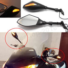 Black Motorcycle LED Turn Signal Rearview Mirrors For Yamaha MT-07 FZ8 FJ FZ 09