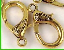 31x17mm X- Large Antique Gold Pewter Lobster Claw Clasps (5) ~ Lead-Free