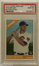 2015 TOPPS HERITAGE KRIS BRYANT PSA 10! HOT ROOKIE CARD ROY/MVP/WORLD CHAMPION!