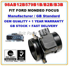 FORD FOCUS 1.6 1.8 2.016V 1.8TDCi ST170 Mass Air Flow meter Sensor 98AB12B579B1B