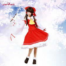 Reimu Hakurei Cosplay Touhou Project Costume Japanese Psychic Dress Red Miko