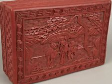 A 19th c. Chinese Cinnabar Lacquer Box.