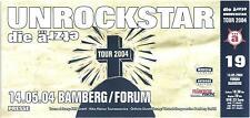 Die Ärzte - Unrockstar - Altes Konzert-Ticket Bamberg ä 19 - #0103 - 14.05.2004