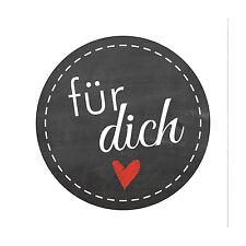 Aufkleber 'für dich' 24 Stück (4 cm) DIY Geschenk Backen Basteln Selbstgemacht