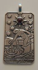 Star Tarot Card Pendant .925 Sterling Silver w/ gem selection - Inspiration Hope