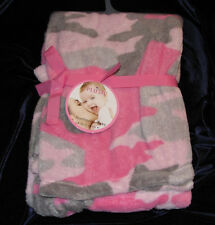 NWT northpoint baby soft plush pink gray girl camo baby blanket fleece NEW