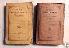Rare, Philomneste Le livre des singularités et les Amusement Philologique, EO