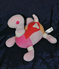 Peluche Doudou Tortue Rose Rouge Orange HAPPY HORSE 16/23 Cm TTBE