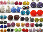 Wholesale NEW SHAMBALLA Disco Bead 925 Sterling Silver Crystal Stud Earring