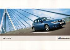 Subaru - Impreza - Prospekt + Preise  - 09/08 - Deutsch - nl-Versandhandel