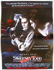 SWEENEY TODD Affiche Cinéma / Movie Poster TIM BURTON JOHNNY DEPP