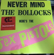 SEX PISTOLS 'NEVER MIND THE BOLLOCKS LP 180 GRAM VINYL + MP3 CODE NEW/SEALED
