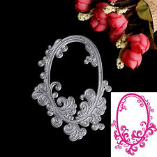 Oval Lace Cutting Dies Stencil DIY Scrapbooking Album Paper Card Embossing Craft