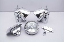 06 Harley Road King FLHR Headlight Handlebar Nacelle Cover CHROME
