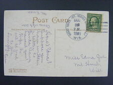 Mount Horeb Mt. Vernon Rural Station Wisconsin 1909 4-Bar Cancel DPO 1902-1916