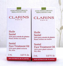 Clarins Santal face Treatment Oil For Dry Skin 2 X 2ml - BNIB