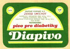 ETICHETTA - DIAPIVO pivo pro diabetiky - Pražské pivovary NP ZAVOD SMICHOV N.112