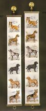 DANISH CROSS STITCH OEHLENSCHLAGER OOE DESIGN BREEDS OF DOGS BELL PULL