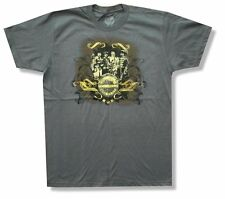 """THE BEATLES """"SGT PEPPERS GOLD FOIL"""" CHARCOAL GREY T-SHIRT NEW OFFICIAL ADULT S"""