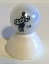 PEPSI COLA BOTTLE 5 CENTS LOGO ON WHITE PEARL MARBLE