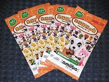 NEW 3DS Animal Crossing Amiibo Card Vol.2nd 5 PACK SET Happy Home Designer JAPAN
