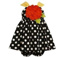 NWT Girl 24M Bonnie Jean Baby DRESSY Summer Polkadot Dress w/ Rosette & Panty