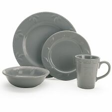 Gray 16 Piece Sorrento Dinner Ware Set by Signature Housewares