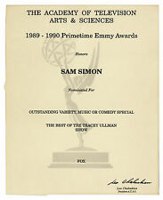 Emmy Nomination for The Tracey Ullman Show Sam Simon