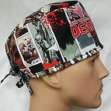WALKING DEAD SURGICAL SCRUB HAT THEATRE CAP ANATOMY