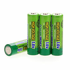 4 x 2A AA 1.6V 2500mAh Ni-Zn NiZn Rechargeable Batteries