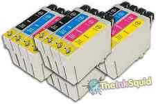 16 T0715 non-OEM Ink Cartridges For Epson T0711-14 Stylus DX6050 DX7000F DX7400