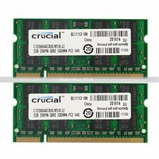 New 4GB 2X2GB PC2-6400 DDR2-800 800Mhz 200pin Sodimm Laptop Memory Ram Upgrade