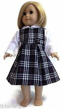 """White Blouse & Jumper School Uniform made for 18"""" American Girl Doll Clothes"""