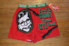 CHRISTMAS STORY Men's Medium Boxer Shorts You'll Shoot Your Eye Out!