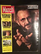 paris match n°1093 abbé pierre john wayne apollo XVIII 13  1970