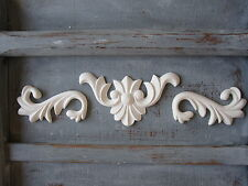 Shabby Chic Vintage Regal Opaco Scroll / Muebles / Espejo Fundicion