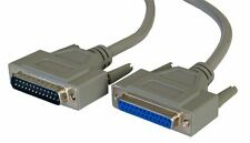 2m Paralelo Impresora Cable Extension Lead Macho 2 Hembra Db25 25 Pines Serial Rs232
