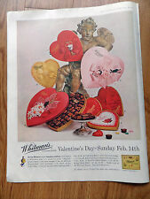 1960 Whitman's Chocolates Candy Ad  Valentine's Day Sunday Feb 14th Theme