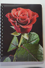 Valentines 3D Rose Notebook Romantic Collectible Lenticular Pad with Red Rose