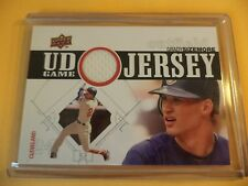 Grady Sizemore 2010 Upper Deck Game Used Jersey UDGJ-GS WHITE SWATCH CLEVELAND