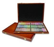 (72) Mungyo Gallery Semi-Hard Square Pastels Wood Case | Gift Sketching Drawing